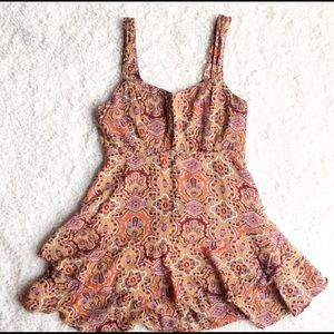 {Free People} Tiered Paisley Dress